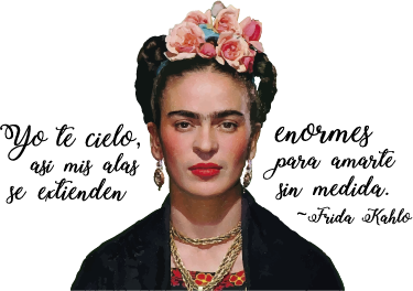TenStickers. Frida Kahlo famous phrase quote decal. A character wall sticker with the print image of Frida Kohlo and her quote phrase. It is available in any required size and easy to apply.