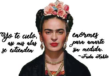 TenVinilo. Vinilo Frida Kahlo frase célebre. Vinilo decorativo de tu artista favorita, ideal para decorar cualquier estancia de casa, ya sea el despacho, tu salón o el dormitorio.