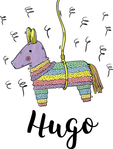 TenStickers. Pinata  wall decal. Pinata wall sticker to decorate the bedroom space of children. It is customisable in any desired name of choice. Easy to apply and self adhesive.