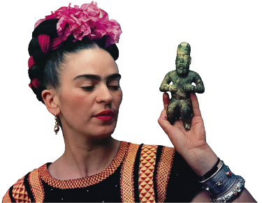 TenStickers. Frida Kahlo laptop skin. High quality laptop sticker with a very realistic portrait of Frida Kahlo will be a perfect decoration that will show your passion to art!