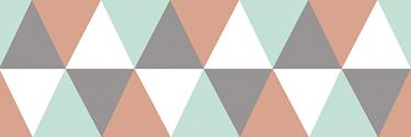TenStickers. Greca adesiva greca triangolo. Decorazione murale geometrica colorata per dare un tocco fresco alla tua parete spenta. Di semplice applicazione, originale ed economico.