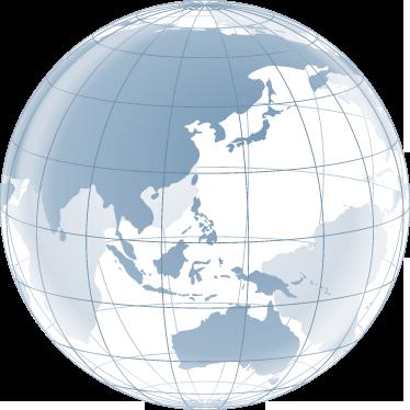 TenStickers. Autocollant carte transparence Pacifique. Stickers mural représentant une carte du monde avec effet de transparence centrée sur l'Asie, l'Océanie et l'océan Pacifique.Idée déco originale pour la chambre à coucher ou le salon.