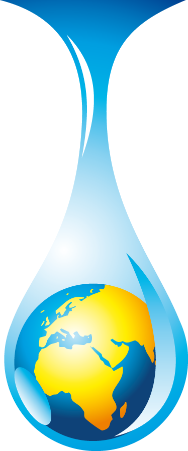 TenStickers. World Water Drop Sticker. A creative wall decal of the planet earth inside a water drop. Superb decal to decorate any space at home.