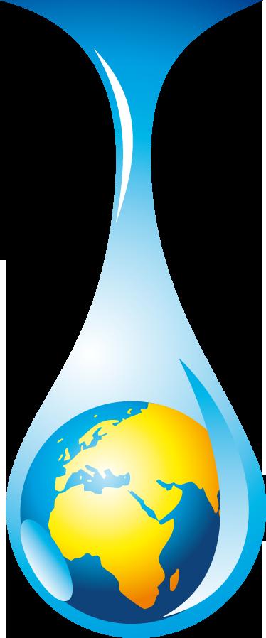 TenStickers. Sticker wereld bol druppel water. Dezre muursticker illustreert een wereldbol in een waterdruppel. Verkrijgbaar in verschillende afmetingen. Dagelijkse kortingen.