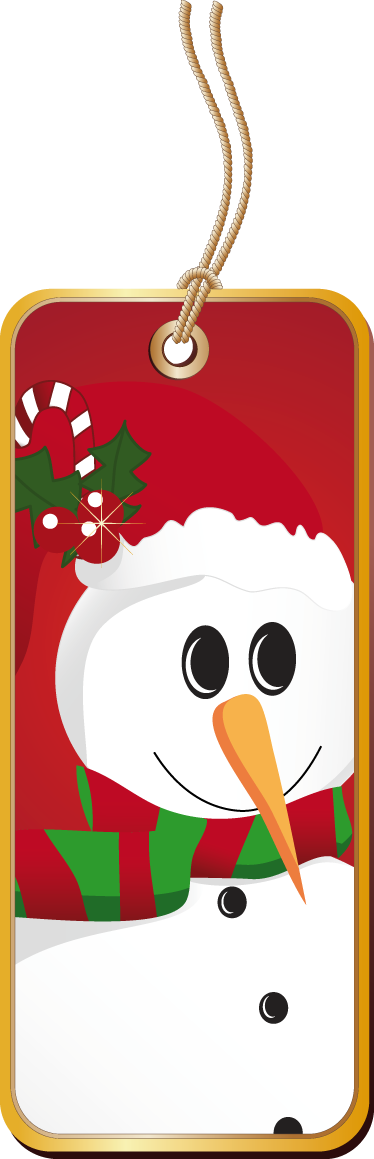 TenStickers. Snowman Label Sticker. Business Stickers - A label tag with a snowman. Boost the christmas spirit with this design. Ideal for businesses and organisations.