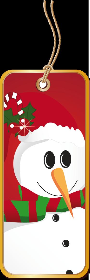 TenStickers. Autocolant eticheta om de zăpadă. Stickere de afaceri - o etichetă cu un om de zăpadă. Stimulează spiritul de crăciun cu acest design. Ideal pentru companii și organizații.