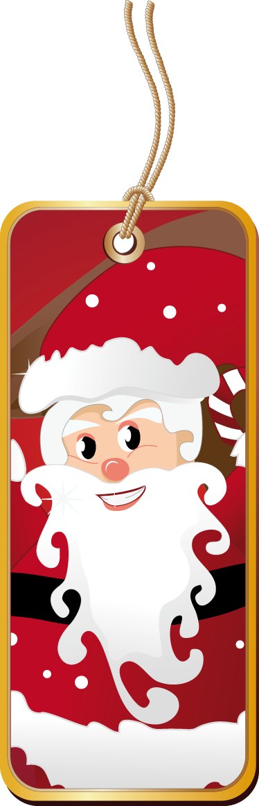 TenStickers. Santa Label Sticker. Business Stickers - Decorate your shop window with this Santa clause label tag sticker.