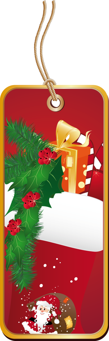 TenStickers. Christmas Label Sticker. Business Stickers - A Christmas themed label tag. Make your customers aware that you are approaching the festive season.