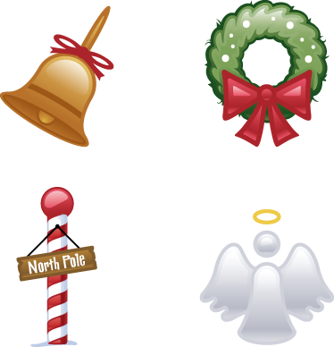 TenStickers. Four Christmas Stickers. Decorative stickers to decorate any room at home or work and celebrate Christmas in style! Brilliant for those who love decorating!