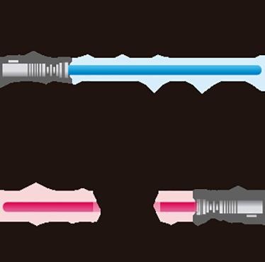 TenVinilo. Pegatina Star Wars personalizable. Vinilos personalizados para los pequeños Jedi que tienes en casa, puedes escribirnos el nombre que quieras en la parte superior.