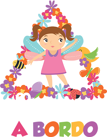 TenStickers. Girl on board car spring  baby in car sticker. Get our baby on board car sticker customized in any name of choice. It is the design of a baby princess on  colorful spring flower background.