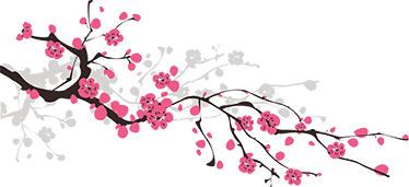 TenStickers. Spring Sakura Branch Wall Sticker. Beautiful sakura wall sticker to decorate your bedroom or living room. This flower wall sticker shows a pink tree branch, perfect for adding some colour and nature to any room in your home.