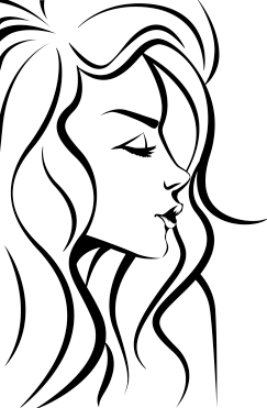 TenStickers. Woman's Face Outline Sticker. Decorative sticker of a woman's face outline. Fantastic decal to decorate any room of your house.