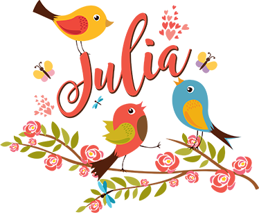 TenStickers. Spring illustration wall art decal. Spring illustration sticker with colorful birds for home decoration. It is customisable in any name of choice. Easy to apply and self adhesive.