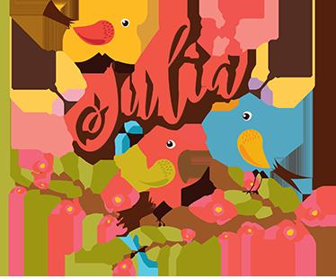 TenVinilo. Vinilo Primavera dibujos personalizable. Precioso vinilo decorativo con motivos animales, concretamente unos pájaros coloridos. Este vinilo infantil podrás personalizarlo con el nombre que prefieras.