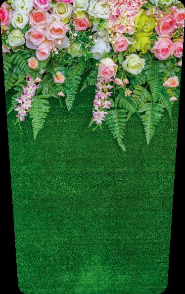 TenStickers. Smeti cvetje cvetlična stena decal. Okrasna cvetlična nalepka za posode za smeti. Nanos je enostaven zaradi samolepilne kakovosti in na voljo v poljubni velikosti.