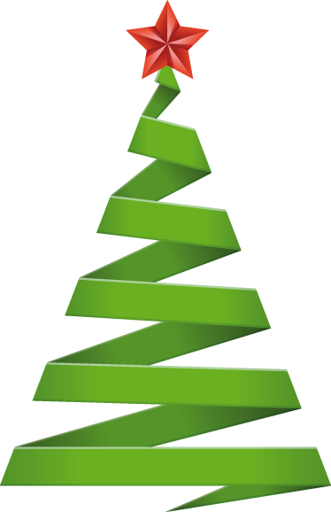 abstract christmas tree sticker tenstickers