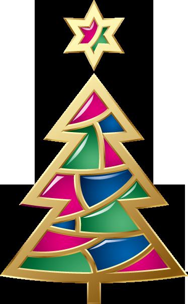TenVinilo. Vinilo decorativo árbol navidad dorado. Llamativo y curioso Adhesivo de navidad. Con éste colorido abeto conseguirás adornar tu negocio atrayendo todas las miradas.
