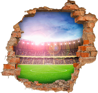 TenStickers. Stadium trompe l'oeil visual effects wall sticker. Stadium trompe l'oeil visual effects wall sticker for home and office decoration. It is available in different size options.