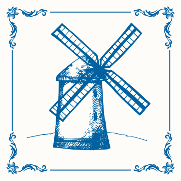 TenStickers. Dutch mill tile transfer. Dutch mill tile sticker to decorate the kitchen wall space. Easy to apply and waterproof. Choose it in any set pact and size required.