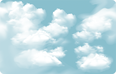 TenStickers. Sky clouds laptop skin. Laptop sticker with a pattern of fluffy clouds, ideal to personalize your personal computer to your liking. Easy to apply.