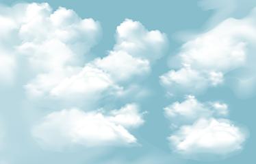 TenStickers. Nebo oblaki kože. Nalepka za prenosnik z vzorcem puhastih oblakov, idealna za prilagoditev osebnega računalnika po vaših željah. Enostaven za uporabo.