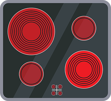 TenStickers. Electric hob sticker. With this electric hob sticker the kids can play and learn how to cook at the same time.