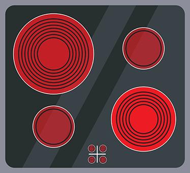 TenStickers. Vinil autocolante vitrocerámica cozinha. Este vinil autocolante é excelente para incentivar os mais pequenos da casa a começar a ''brincar'' e a fazerem os seus primeiros pratos culinários.