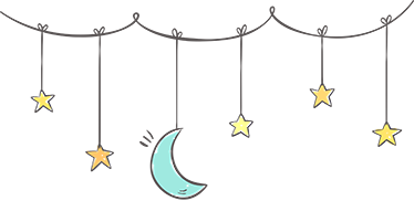 TenStickers. Stars and moon kids  baby wall decal. Baby nursery wall art sticker to decorate bedroom space . It is available in any required size. It is easy to apply and self adhesive.
