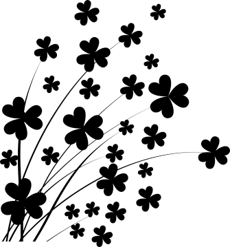 TENSTICKERS. クローバー壁ステッカー. ウォールステッカー-クローバーの花柄のデザインで、部屋を飾るのに最適です。さまざまなサイズと色で利用できます。