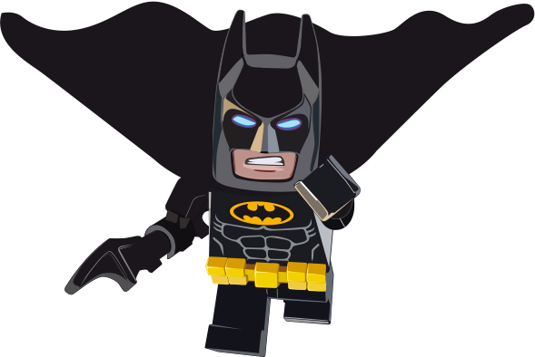 TenStickers. Lego Batman Superhero Sticker. Decorative vinyl sticker for children with a drawing of the favorite superhero of the smallest of the house. It depicts the famous character Batman!