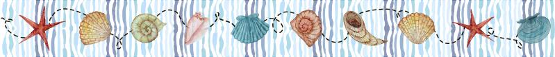 TenStickers. Autocolante decorativo azulejos concha. Apresentamos aqui esteautocolante decorativoimitando azulejos com desenhos de conchas que se pode encontrar no mar, ideal para ascasas de banho