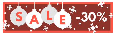 TenStickers. Customisable Christmas Promotion Sticker. Customisable - Seasonal - Business Stickers - Ideal design to decorate your business during the lead up to the festive occasion.