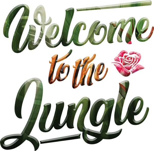 TenStickers. Welcome to the Jungle Lyric Wall Decal. We have here this decorative wall sticker with the phrase ''Welcome to the jungle''. Ideal decorative sticker to give more life to dull walls at home!