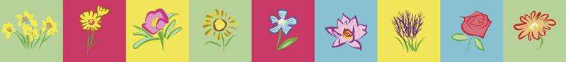 TenStickers. Adesivo per piastrella fiori. Adesivo decorativo per piastrelle in vinile con design di piante floreali colorate per spazio piastrelle cucina e bagno. Facile da applicare e adesivo.