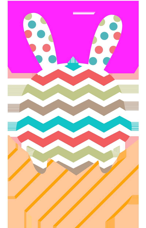 TenStickers. Stencil muro uovo di pasqua. Adesivo da parete per le vacanze di pasqua con il design di un coniglietto colorato per decorare la casa durante le festività. Facile da applicare e autoadesivo.