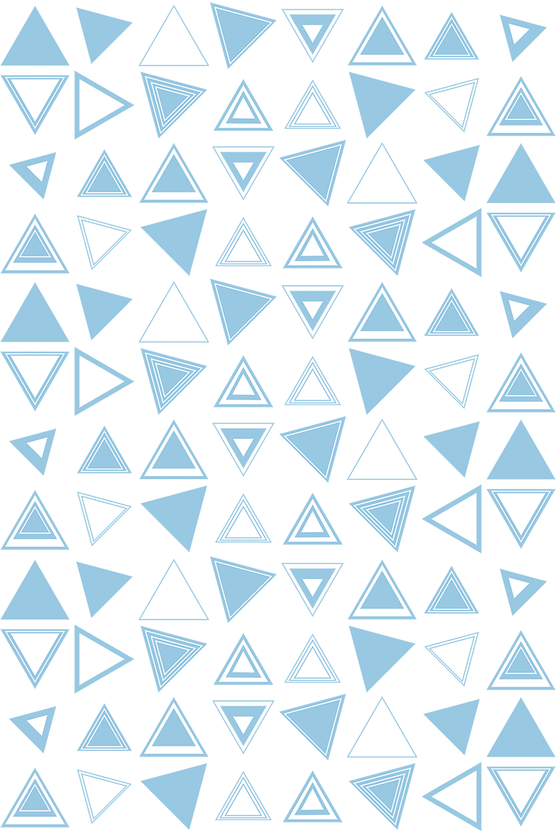 TenStickers. Triangule Shape shower sticker. Shower screen sticker with a minimalist design of many different triangles in different positions that will fit great in your shower screen.