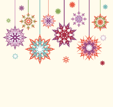 TenStickers. Christmas Star Flakes Wall sticker. Christmas Snow Flake Wall Decor - The colourful Christmas stars wall sticker is a great design to decorate your home with during the Christmas period.