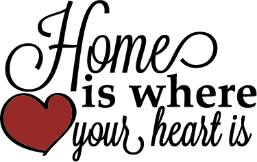 TenStickers. Adesivo Home is where your hear is. Faça com que as suas paredes monótonas transformem em paredes divertidas com a ajuda deste adesivo de parede ''Home is where your heart is''.
