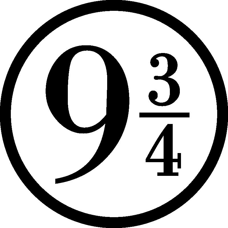TenStickers. Vinil televisão Estação de trem harry potter. Com este autocolante de cinema com o símbolo da plataforma 9 3/4 poderá mostrar a sua admiração por harry potter na decoração do seu quarto!
