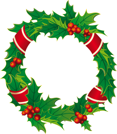 TenStickers. Sticker decorativo corona natale. Classica decorazione natalizia usata per decorare le porte della casa. Abbellisci il tuo negozio con un grazioso adesivo rappresentante il Natale