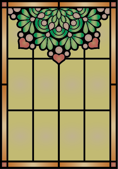 TenStickers. Adesivo window stained glass. This lovely window adesivo will decorate your house and brighten up the rooms. The sticker has a yellow tainted glass effect with a painted bouquet of flowers on top.