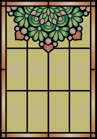 TenStickers. Vetro macchiato della finestra adesivo. Questa bella finestra adesiva decorerà la tua casa e illuminerà le stanze,  ha un effetto vetro giallo opaco con un mazzo di fiori dipinti sopra.