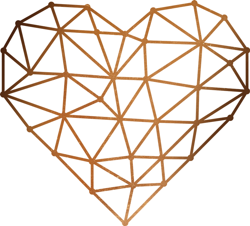 TenStickers. 折纸心墙贴花. 这种优雅的折纸心会精美地装饰您的墙壁。这种墙贴花是由折纸结构制成的简单心脏。