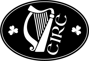 "TenStickers. Irish Harp Car Sticker. Irish harp car sticker with two shamrocks and the word ""Éire"" in a classic Gaelic font. Personalise your car or motorbike with this simple but eye-catching Ireland decal. Show off your Irish heritage or love for the country with this vehicle sticker."
