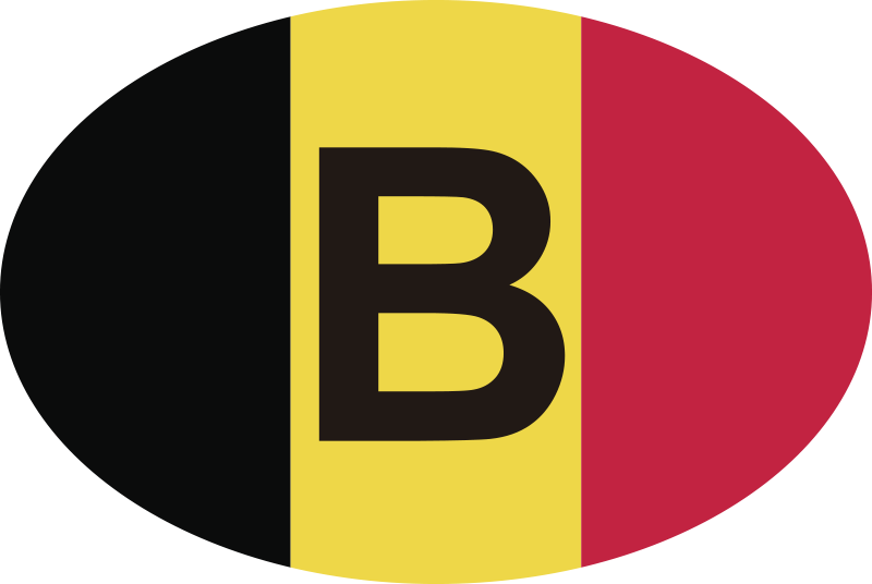 TenStickers. Belgium Flag Car Decal. Colorful decorative Belgium flag car sticker . A design for all flat surface. It is easy to apply, self adhesive and available in any size.
