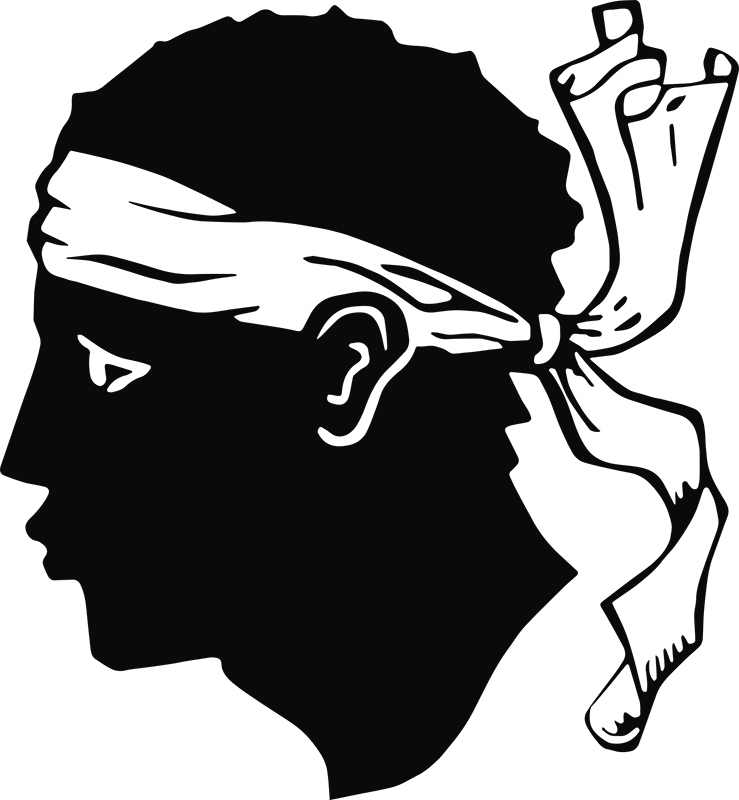 TenStickers. Maure Corse head  Car Decal. Personality car decal to decorate the surface of a vehicle.   it is the silhouette head of Maure Corse. It is available in different colours and sizes.