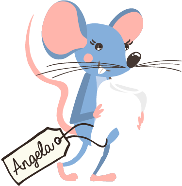 TenStickers. Sticker la petite souris dent. Sticker représentant la petite souris, tenant dans ses pattes unedent, suivie d'une étiquette avec le prénom du propriétaire de cette dernière.