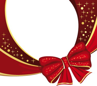 TENSTICKERS. クリスマスリボンステッカー. 街のお店を強調するクリスマスリボンのステッカー。店頭の窓を飾るデカールに最適です。