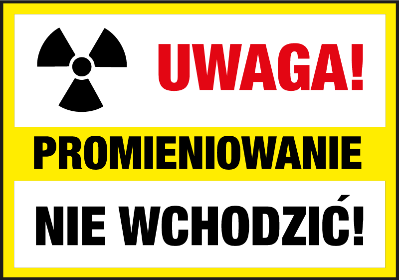 TenStickers. Don't Pass Radiation  sign sticker. Sign vinyl decal with radiation waning for industrial and factory space. It is available in any required size and easy to apply.